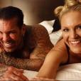 """""""Rich Piana et sa compagne Chanel Jansen, photo Instagram partagée par cette dernière en même temps qu'un message poignant suite à la mort du bodybuilder à 46 ans le 25 août 2017."""""""