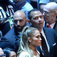 Jennifer Lopez et Alex Rodriguez en couple au combat entre Floyd Mayweather et Conor McGregor le 26 août 2017 à la T-Mobile Arena à Las Vegas.