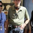 """Clint Eastwood poursuit le tournage de son dernier film """"Le 15h17 pour Paris"""" à Venise avec une scène sur des gondoles le 17 août 2017."""