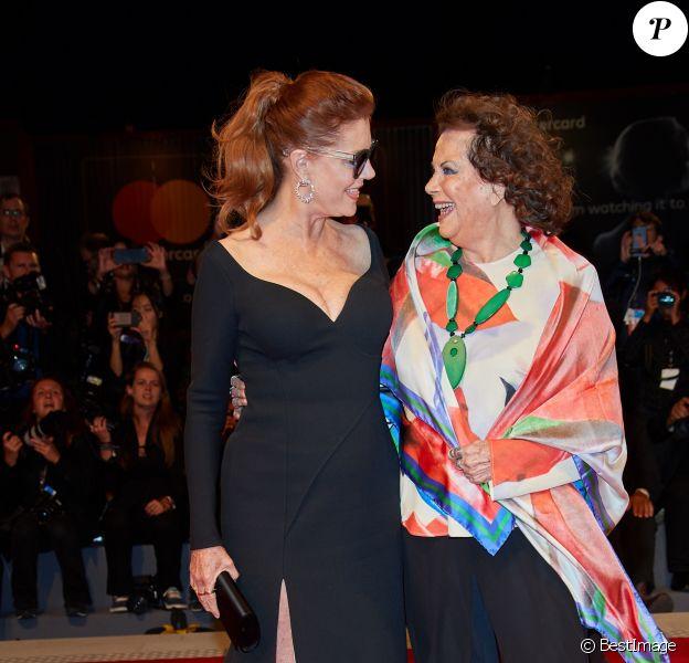 """Susan Sarandon, Claudia Cardinale à la première de """"The Leisure Seeker"""" au 74ème Festival International du Film de Venise (Mostra), le 3 septembre 2017"""