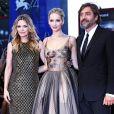 Jennifer Lawrence, Michelle Pfeiffer et Javier Bardemà la 74ème édition de la Mostra de Venise, le 5 septembre 2017.