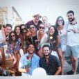 Pauline Ducruet et un groupe d'amis à Bagatelle Beach, Saint-Tropez, en août 2017, photo Instagram.