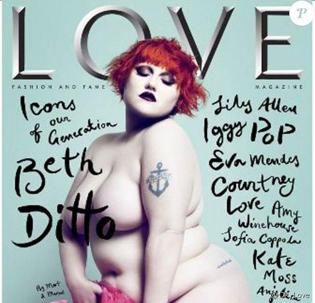"""Beth Ditto en couverture du magazine """"Love"""""""