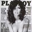 Paz de la Huerta en couverture de Playboy