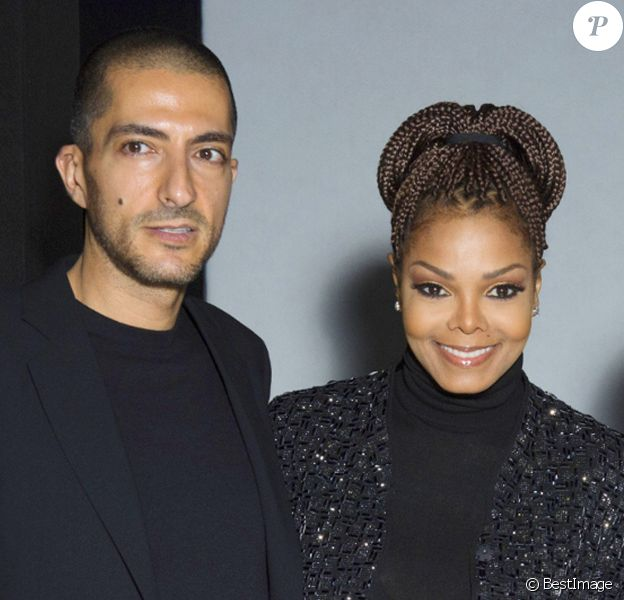 Janet Jackson et son mari Wissam Al Mana - People au defile Giorgio Armani pret-a-porter Automne-Hiver 2013/2014 pendant la fashion week de Milan, le 25 fevrier 2013.