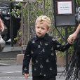 Exclusif - Fergie et son mari Josh Duhamel vont à l'église avec leur fils Axl à Brentwood, le 6 juin 2017