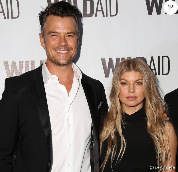 Fergie et son mari Josh Duhamel - People au WildAid 2015 à Beverly Hills le 7 novembre 2015.