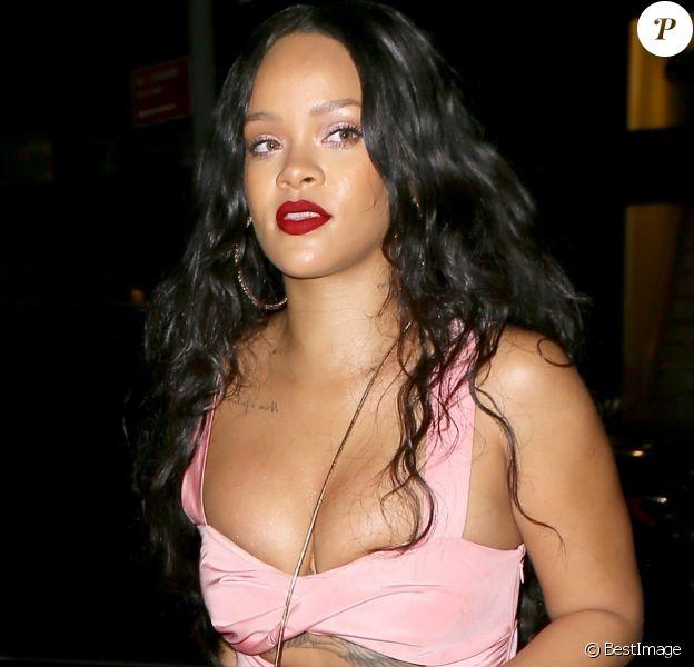 Rihanna à son arrivée au restaurant Dumbo dans le quartier de Brooklyn à New York,le 16 septembre 2017