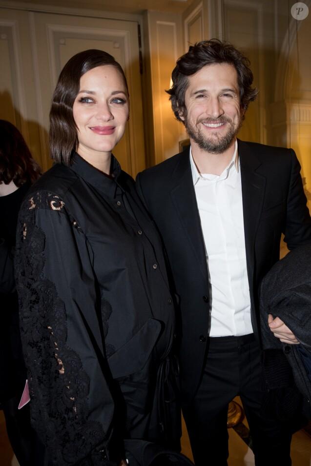 Marion Cotillard et Guillaume Canet - Dîner à l'hôtel Meurice des Révélations César 2017 à Paris le 16 janvier 2017.