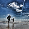 Guillaume Canet et son fils Marcel sur une photo publiée sur Instagram le 29 août 2017