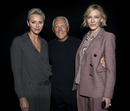 Charlene de Monaco : Ultralookée au côté de Cate Blanchett pour Giorgio Armani