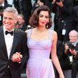 """George Clooney et sa femme Amal (Alamuddin) à la première de """"Suburbicon"""" au 74e Festival International du Film de Venise (Mostra), le 2 septembre 2017."""