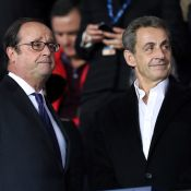 PSG-Bayern : Nicolas Sarkozy et François Hollande plaisantent en tribune