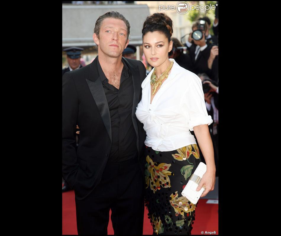 Monica Bellucci et Vincent Cassel à Cannes, en 2008. Les ...