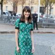 """Stacy Martin - Défilé de mode printemps-été 2018 """"Miu Miu"""" au Palais d'Iéna. Paris, le 3 octobre 2017 © CVS-Veeren / Bestimage"""
