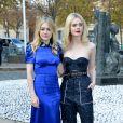 """Dakota et Elle Fanning - Défilé de mode printemps-été 2018 """"Miu Miu"""" au Palais d'Iéna. Paris, le 3 octobre 2017 © CVS-Veeren / Bestimage"""