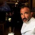 Nikos Aliagas en vacances en Grèce. Juillet 2017.