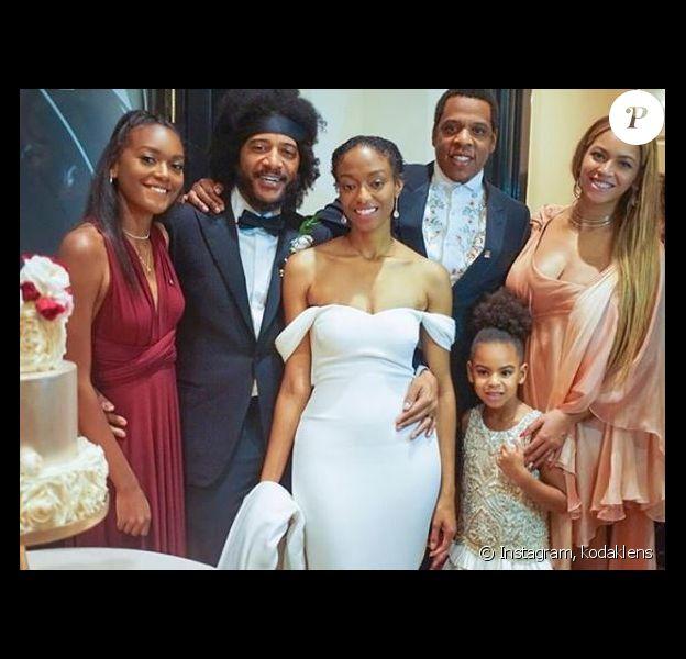 Beyoncé, Jay-Z et leur fille Blue Ivy participent à un mariage à la Nouvelle-Orléans le 7 octobre 2017.