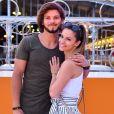 Semi-exclusif - Rayane Bensetti et sa compagne Denitsa Ikonomova - Lancement de la nouvelle Seat Ibiza Place de la Fontaine aux Lions sur le parvis de la Villette à Paris le 21 juin 2017.