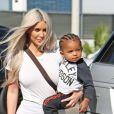 Kim Kardashian et ses enfants à Los Angeles, le 21 septembre 2017