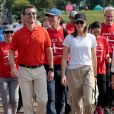Le prince Frederik et la princesse Mary de Danemark au premier jour de leur voyage officiel pour célébrer les 150 ans de relations diplomatiques entre le Danemark et le Japon le 8 octobre 2017, vêtus déontractés pour participer à un walkathon.
