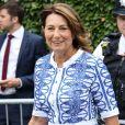 """""""Carole Middleton au tournoi de tennis de Wimbledon à Londres, le 12 juillet 2017."""""""