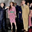 La princesse Lalla Salma du Maroc et Madison Cox, veuf de Pierre Bergé, à Marrakech le 14 octobre 2017 lors de l'inauguration du musée Yves Saint Laurent (mYSLm).