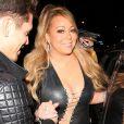 Mariah Carey arrive avec son compagnon Bryan Tanaka au restaurant Gracias Madre à Los Angeles, le 22 septembre 2017