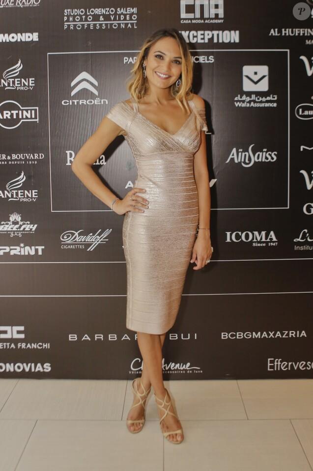 """Exclusif - Valérie Bègue - 7ème édition du défilé """"Casa Fashion show"""" au Sofitel Casablanca Tour Blanche à Casablanca au Maroc le 10 octobre 2015."""