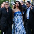 """Amal et George Clooneyà la première de """"Suburbicon"""" au théâtre Regency Village à Westwood, le 22 octobre 2017"""