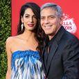 """Amal et George Clooney à la première de """"Suburbicon"""" au théâtre Regency Village à Westwood, le 22 octobre 2017"""