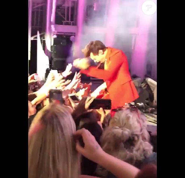 Harry Styles en concert à Los Angeles le 22 octobre 2017