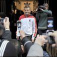 David Beckham à l'inauguration de la boutique Adidas, à Milan ! 23/02/09