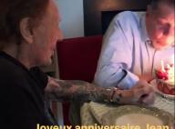 Johnny Hallyday et Jean-Claude Camus, complices pour les 79 ans du producteur