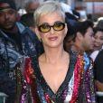 """Katy Perry arrivant à l'émission ""Good Morning America"" à New York le 4 octobre 2017."""