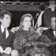 Jack Lang et Catherine Deneuve aux César 1983.