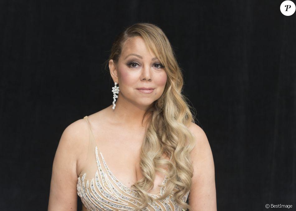 """Mariah Carey en conférence de presse pour le film """"The Star"""" (L'étoile de Noël) à Beverly Hills. Le 29 octobre 2017."""