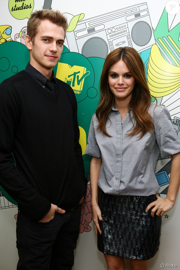 Rachel Bilson et Hayden Christensen à New York, le 12 février 2008.
