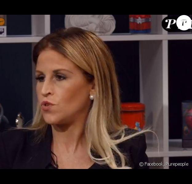 """Sabrina Perquis en Facebook Live pour """"Purepeople"""""""