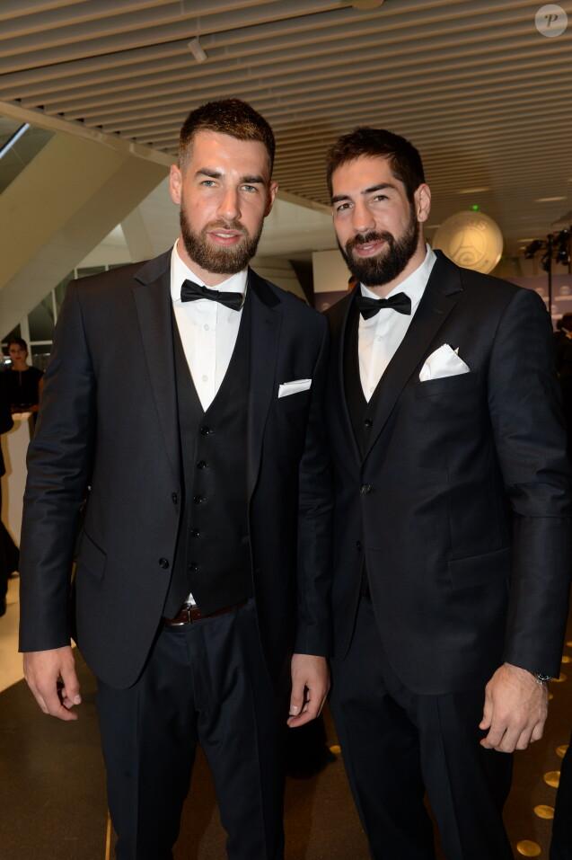 Exclusif - Luka et Nikola Karabatic au dîner de gala au profit de la Fondation PSG au Parc des Princes à Paris le 16 mai 2017. © Rachid Bellak/Bestimage