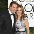 John Travolta et sa femme Kelly Preston - 74ème cérémonie annuelle des Golden Globe Awards à Beverly Hills. Le 8 janvier 2017