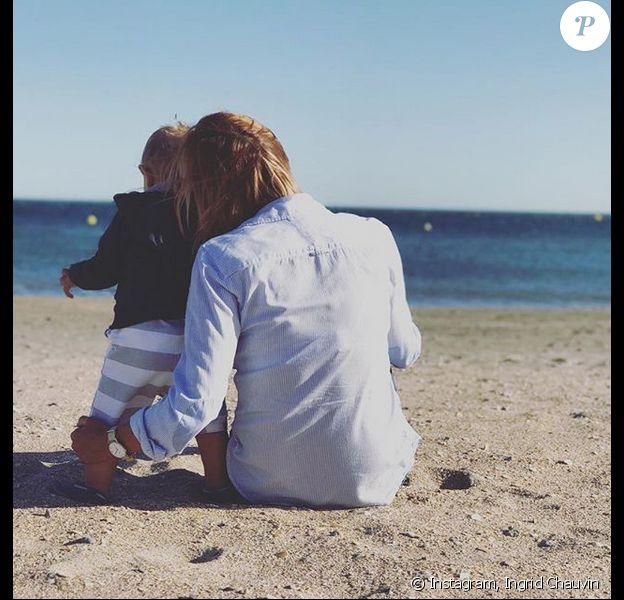 Photo d'Ingrid Chauvin et son fils. Septembre 2017.