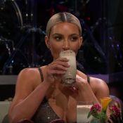 Kim Kardashian : Pour couvrir ses soeurs enceintes, elle avale un jus infect