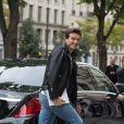 Exclusif - Céline Dion et son danseur Pepe Munoz sont allés déjeuner au restaurant italien Paparazzi au square de l'Opéra-Louis Jouvet et sont ensuite allés faire du shopping chez Dior avenue Montaigne et chez Balmain rue François 1er avant de revenir à l'hôtel Royal Monceau à Paris, France, le 8 août 2017