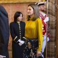 La reine Letizia et le roi Felipe VI recevaient le 20 novembre 2017 le président de l'Etat de Palestine, Mahmoud Abbas, au palais royal à Madrid. © Almagro/ABACAPRESS.COM