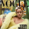 Rihanna en couverture du magazine Vogue Paris, numéro de décembre 2017. Photo par Juergen Teller.
