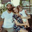 Amanda Booth, Mike Quinones et leur fils Micah. Août 2017.