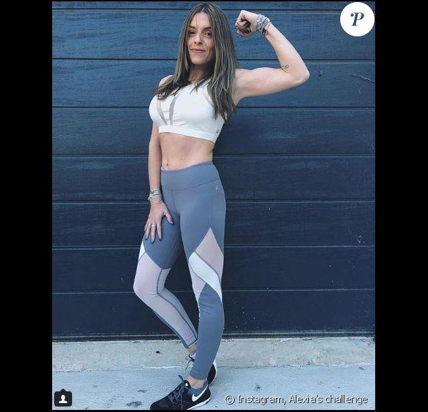 Alexia en pleine séance de sport - Instagram, 2017