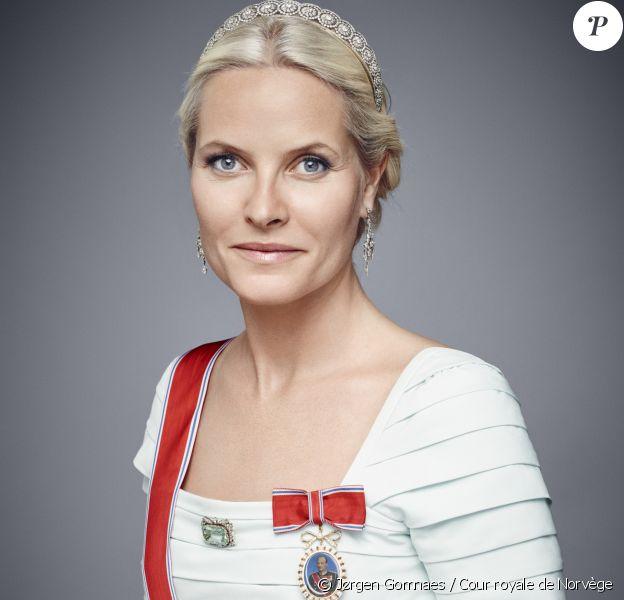 Portrait officiel de la princesse Mette-Marit de Norvège, janvier 2016. © Jørgen Gomnaes / Cour royale de Norvège