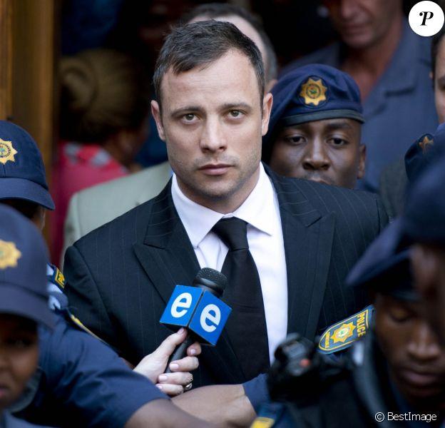 Oscar Pistorius arrive au tribunal de Pretoria. Le 12 septembre 2014.